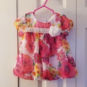 Floral baby bubble dress 3-6 months